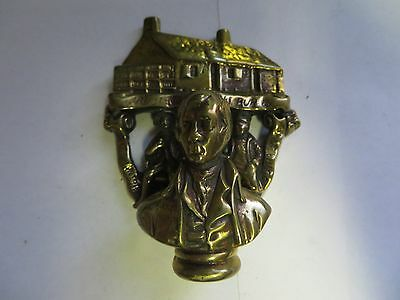 """Birthplace of Robert Burns"" Brass Antique English Door Knocker"