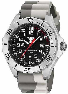 KHS Tactical Watch Landleader Steel Camouflage Band Swiss Movement KHS.LANS.DC