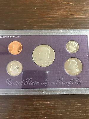 US Mint 1988 S Proof Set 5 coins (1 cent - half dollar) in original packaging