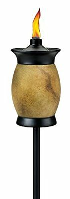 TIKI? Brand 64-inch Resin Jar Torch 4-in-1 Travertine Color