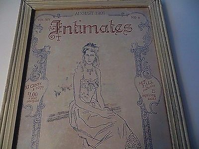 Framed Vintage Magazine Ad Intimates Boudoir Collection 1901