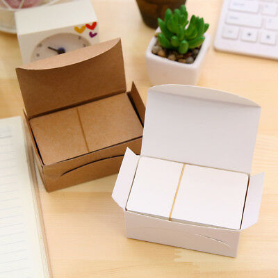 100Pcs Blank Kraft Paper Message Card Memo Wedding Party Gift Thank you Cards