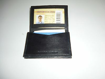 Genuine leather credit card holder with ID window