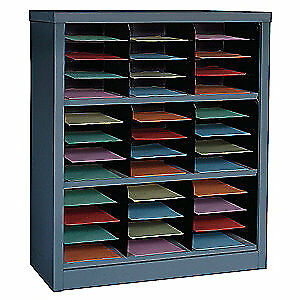 GRAINGER APPROVED Literature Organizer,42 In H,Gray, 5CRY3, Gray
