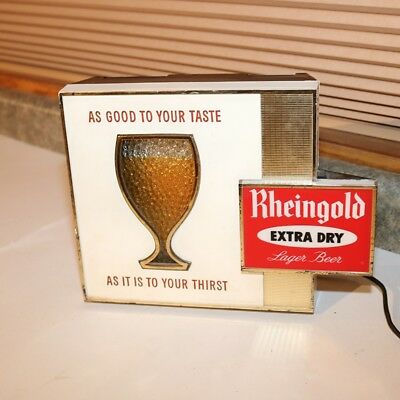 Rheingold Extra Dry Beer Cash Register Lighted Motion Sign