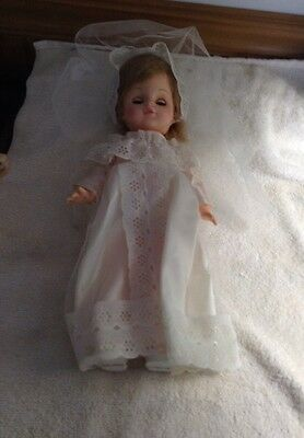 "Vintage Horsman Doll With Christening Gown 14"" Attic Find"