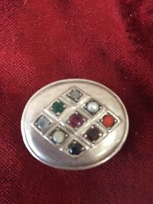 Sterling silver Jewelled Pill Box