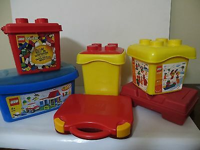 LEGO Storage Containers - 6 Storage Tubs and Cases
