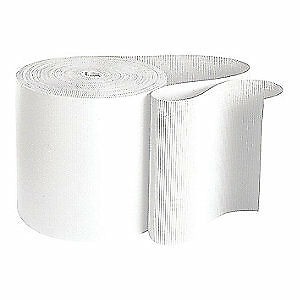 Single-Face Corrugated Paper Corrugated Roll,250 ft. L x 48 in. W, 36MZ91, White