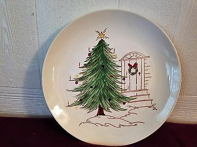 "Blue Ridge Southern Potteries Plate 10-1/2"" Christmas Doorway"