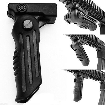 WOW 2 Position Hunting Foldable Front Grip Foregrip Picatinny Weaver Rail Type