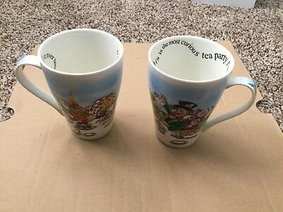 Paul Cardew Alice In Wonderland Mad Hatter Tea Party 15 Oz  Bone China Mug Cups