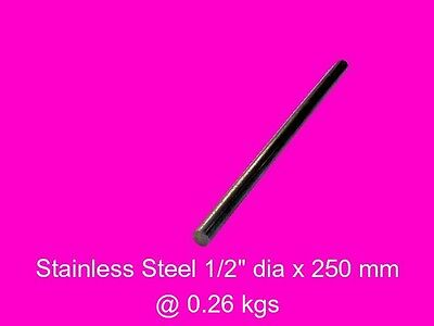 Stainless Steel Round 12.7 dia x 300 mm-Lathe-Mill-Steam-Weld-Grind-Model-OG