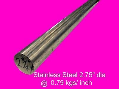 "Stainless Steel Round Bar 2.75"" dia x 140 mm-Lathe-Weld-Steam-Mill"