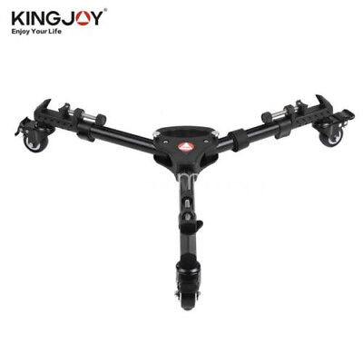 Camera Video Tripod Dolly Base Stand Smooth 3Wheels Pulley w/Brake VX-600
