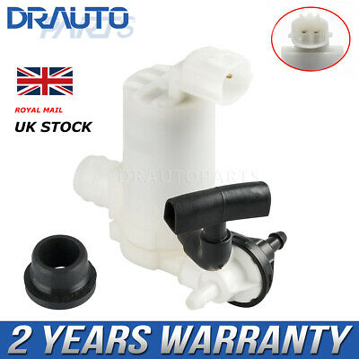 Front Rear Windscreen Washer pump For Mazda 2 Hatchback 2007 - 2015 Twin Outlet
