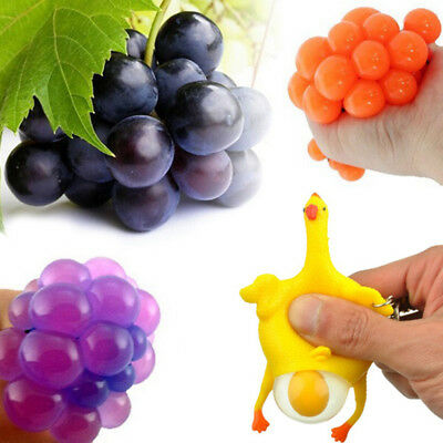 Colossal Squishy Mesh Grape Ball Chicken Egg Slow Rising Toy Stress Relief Exoti