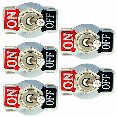 5Pcs Heavy Duty 10 A 125V 15A 250V SPST 2 Pin  Power Rocker Toggle Switch