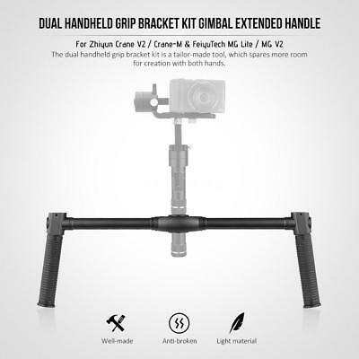 Extended Handle Dual Handheld Grip Bracket Kit Black for Zhiyun Crane V2&Crane-M