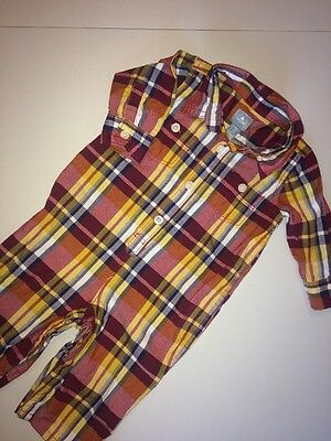Baby Boys Gap Madras Outfit 3-6 Months Plaid