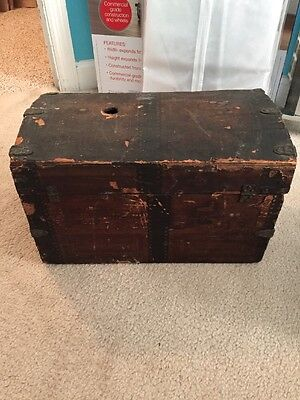 Vintage Wooden Small Doll Trunk