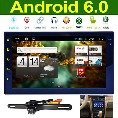 Android 6.0 7'' 2Din Car Stereo Radio With GPS Bluetooth Steering Wheel Control