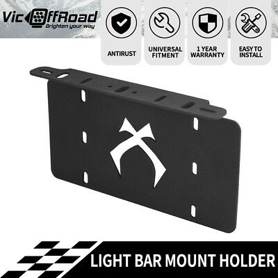 Number Plate Bullbar Frame Mounting Bracket Mount Light Bar Holder US Style