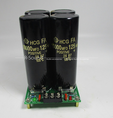 Rectifier filter power supply board for dual amplifier 125V/10000uF Hitachi Capa