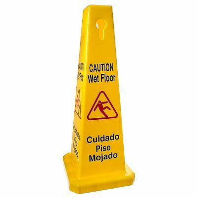 New Caution Wet Floor Cone Sign Thunder Group PLWFC027 size 27x11x11