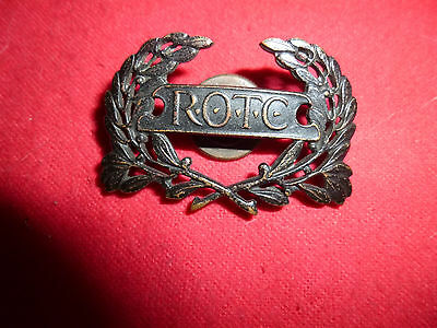 U.s. Ww1 Rotc Cap Badge
