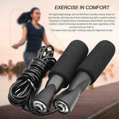 3m Bearing Skip Rope Adjustable Sport Jump Ropes with Thickened Anti-slip Foam U