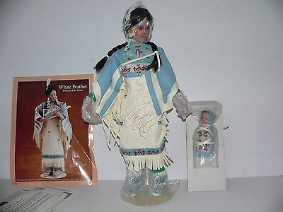 """""""White Feather, Princess of the Sioux"""" Porcelain Doll - Danbury Mint"""