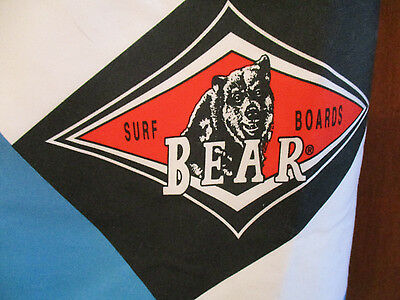 Bear Surfboards Logo Swim Trunks Shorts Classic Surf  Size 32 Mens Vintage