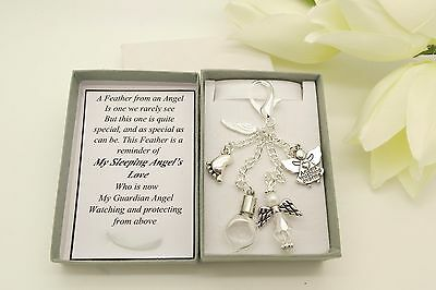 Miscarriage.Baby Loss. In Loving Memory.Feather From An Angel Keyring Keepsake