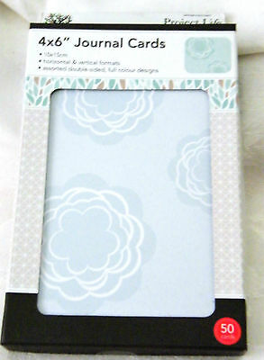 "Project Life Journal cards 'Bliss' -4"" x 6"" - 50 Cards New, PLUS 2 Free Jnl Pens"