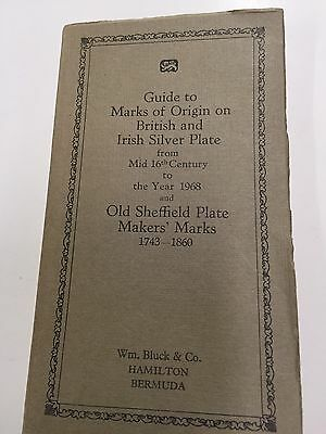 Guide To MARKS of Origin-British And Irish Silver Plate & Sheffield Makers Marks