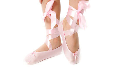 NEW Lycra Ballet Shoes with Ribbon