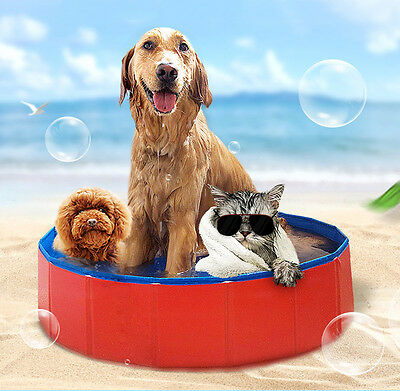 Pet Folding PVC Swimming Pool Bathing Tub Dogs Cats Bathtub Kitty Baby Bath