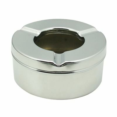1PC Stand Round Pipe Bin Smoking Ashtray Ash Cigarette Holder Stainless Steel