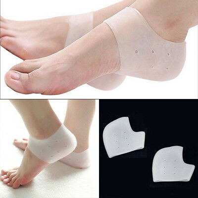 4PCS Silicone Comfort T Shaped Heel Cushions Padded Heel Grips Care Heel Liners