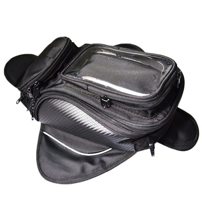 Magnetic Motorcycle Oil Fuel Tank Luggage Bag Black GPS Phone Holder Waterproof