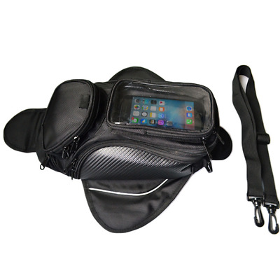 1Pcs Motorcycle Tank Bag Pouch GPS Phone Holder Waterproof Shoulde Bag Magnetic