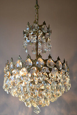 Home Decor Classic Antique French Vintage Crystal Chandelier Lamp Old Lighting