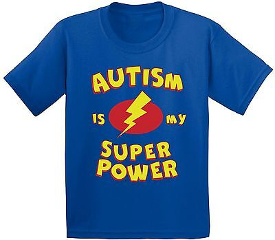 Autism Is My Super Power T shirts Kids Tees Tops for Autism Awareness