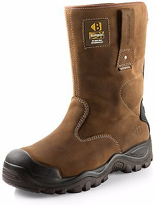 Buckler BSH010BR Waterproof Safety Rigger Work Boots Dark Brown (Sizes 6-13)