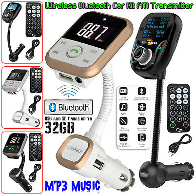 Wireless Bluetooth Car MP3 Player Radio FM Transmitter LCD SD USB Charger Kit