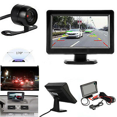 4.3 '' TFT LCD Car Rear View System Backup Monitor + Parking Camera Night Vision