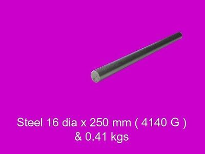 Steel 16 dia x 250 mm Peeled Bar 4140-High Tensile-Lathe