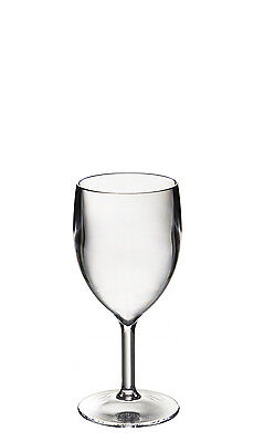 Set of Roltex Unbreakable Reusable Polycarbonate Plastic SMALL Wine Glasses
