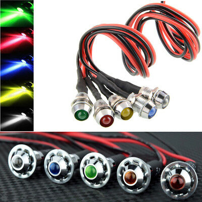 5PCS 12V LED Dash Pilot Panel Indicator Warning Light Lamp Car Boat Marine Truck